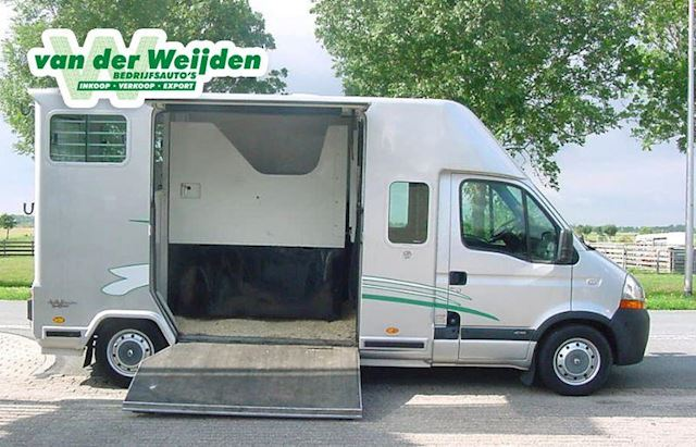 Renault Master 2.5d 2-Paards Barbot Paardenauto Dub. Cab.