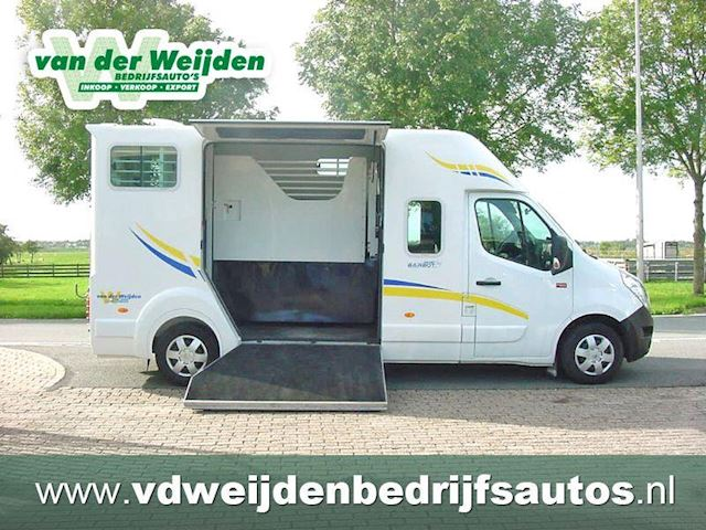 Renault Master 2.3D Barbot 2 Paards Paardenauto 163 PK, Dub.Cab. 11/`15.