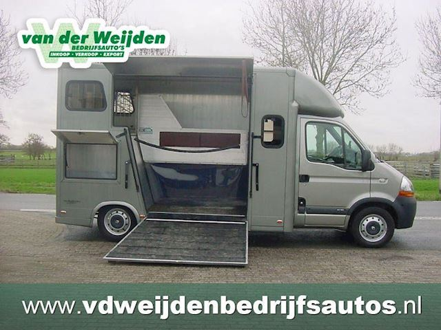 Renault Master 2.5 D 2-Paards Paardenauto Dub.Cab. Marge/Prive
