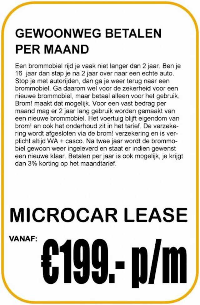 Microcar Mgo 4 Highland X Private Lease brommobielen Veenendaal