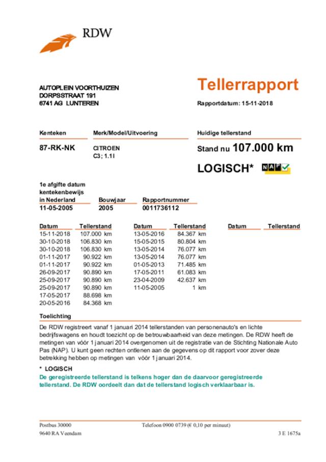 Citroen C3 1.1i Airconditioning - 107.095km NAP