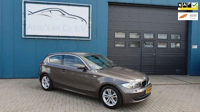 BMW 1-Serie 118d High Executive 2009 Clima Navi Xenon 16 NL Auto NAP Incl nw Apk 09-2020