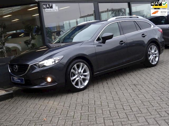 Mazda 6 Sportbreak 2.5 GTM 192PK AUTOMAAT (FULL-OPTIONS!! LEDER NAVI XENON PDV-V+A  CAMERA)