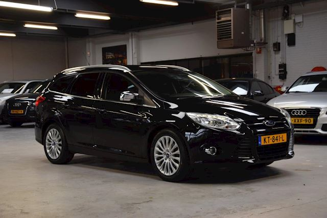 Ford Focus Wagon 1.6 Ecoboost *Titanium* 182 PK!! Navi| Parkeer- assist| Half/ leder| Stoelverwarming| Lane- assist