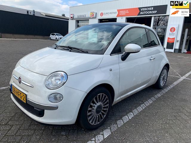 Fiat 500 1.2 Lounge / pano - leder aut. (Bak defect)