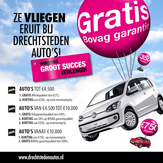 Volkswagen Up! 1.0 Move up! 73Dkm! Navi! Airco! Stoelverwarming! Bluetooth! El. Pakket! Bluemotion!