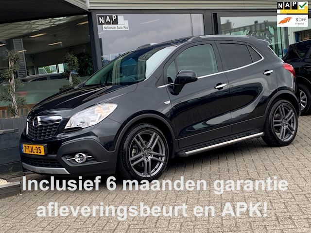 Opel Mokka 1.4 TURBO COSMO 140PK FULL-OPTIONS! (SPORTLEDER NAVI CAMERA SCHUIFDAK PDC V+A TREKHAAK!!)