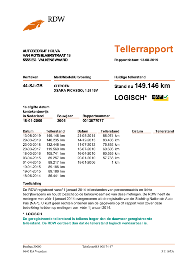 Citroen Xsara Picasso 1.6i-16V Caractère CLIMA CRUISE TREKHAAK PDC APK 04-2020!!