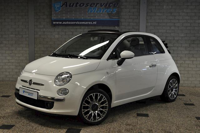 Fiat 500 C 1.2 Lounge cabrio, PDC, Airco, 16inch LM, 1/2 leder
