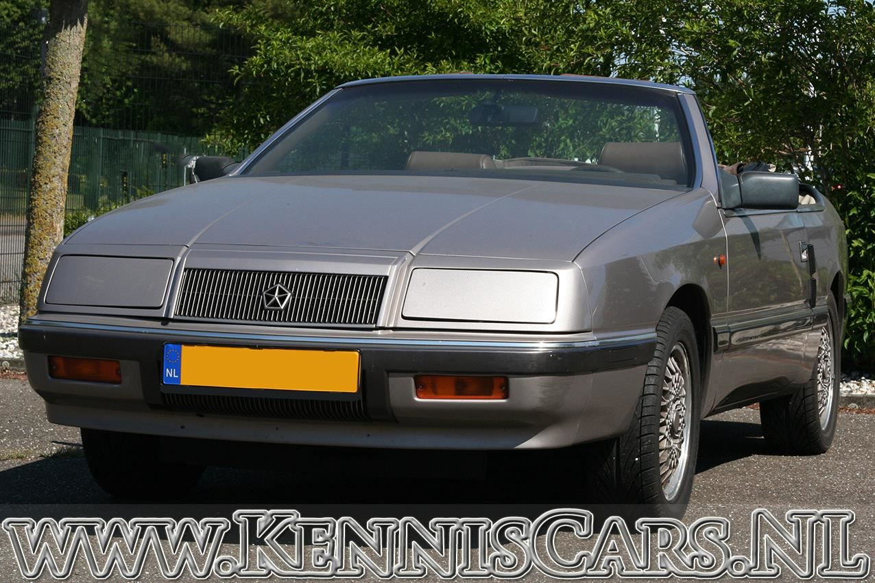 Chrysler 1990 LeBaron GTC 2.2 Turbo U9 Convertible occasion - KennisCars.nl