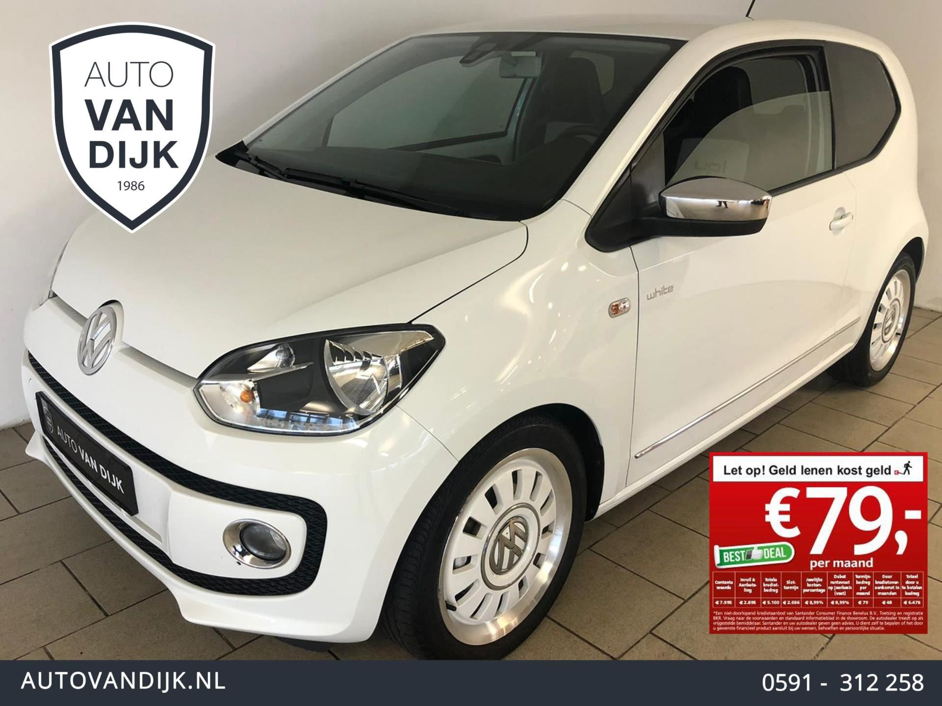 Volkswagen Up 10 White Up High Up 75 Pk Airco Chroom