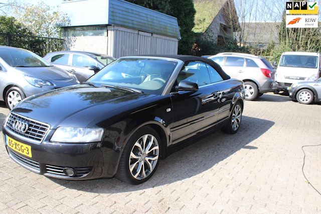 Audi A4 Cabriolet 2.4 V6 Exclusive mooie staat creme leer
