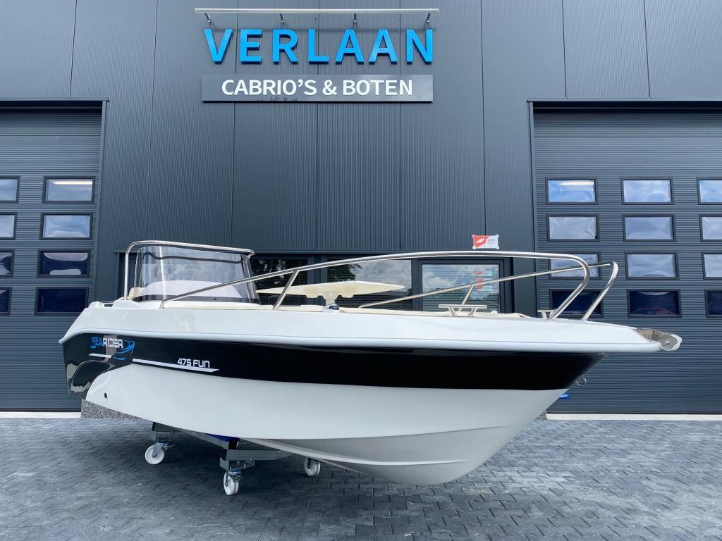 SeaRider 475 Fun/Nieuwe/Snel leverbaar/ Consoleboot/Eventueel met nieuwe motor occasion - Verlaan Cabrio's en Boten