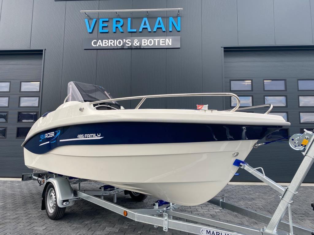 SeaRider 485 Family/Nieuw/Direct leverbaar/ Consoleboot/Eventueel met nieuwe motor occasion - Verlaan Cabrio's en Boten