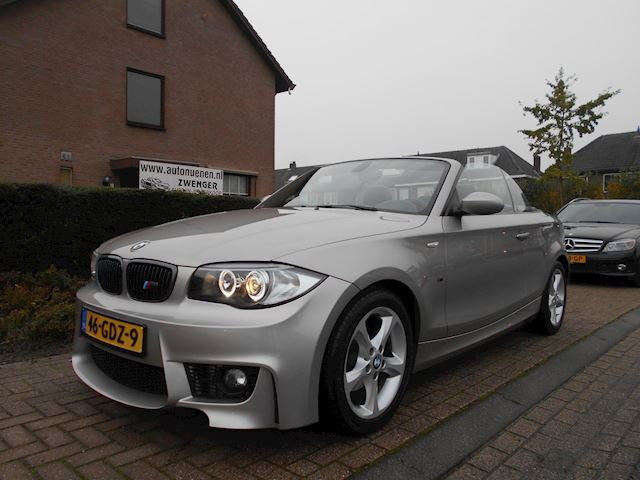 BMW 1-serie Cabrio 118i M-SPORT|ANGEL-EYES|LEER|PARKEERSENSORS|AIRCO|CRUISE-CONTROL|NL-AUTO|PRACHTIGE-STAAT|CARBON-LOOK