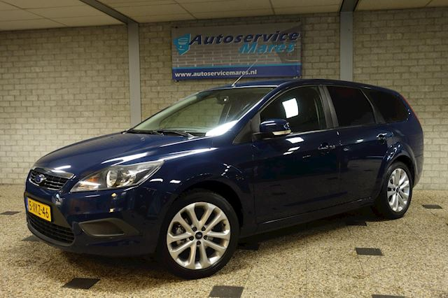 Ford Focus Wagon 1.6 TI-VCT, Clima, airco, PDC, Navi, 1/2 leder, Trekhaak, 17 inch LM, nieuwe distributie