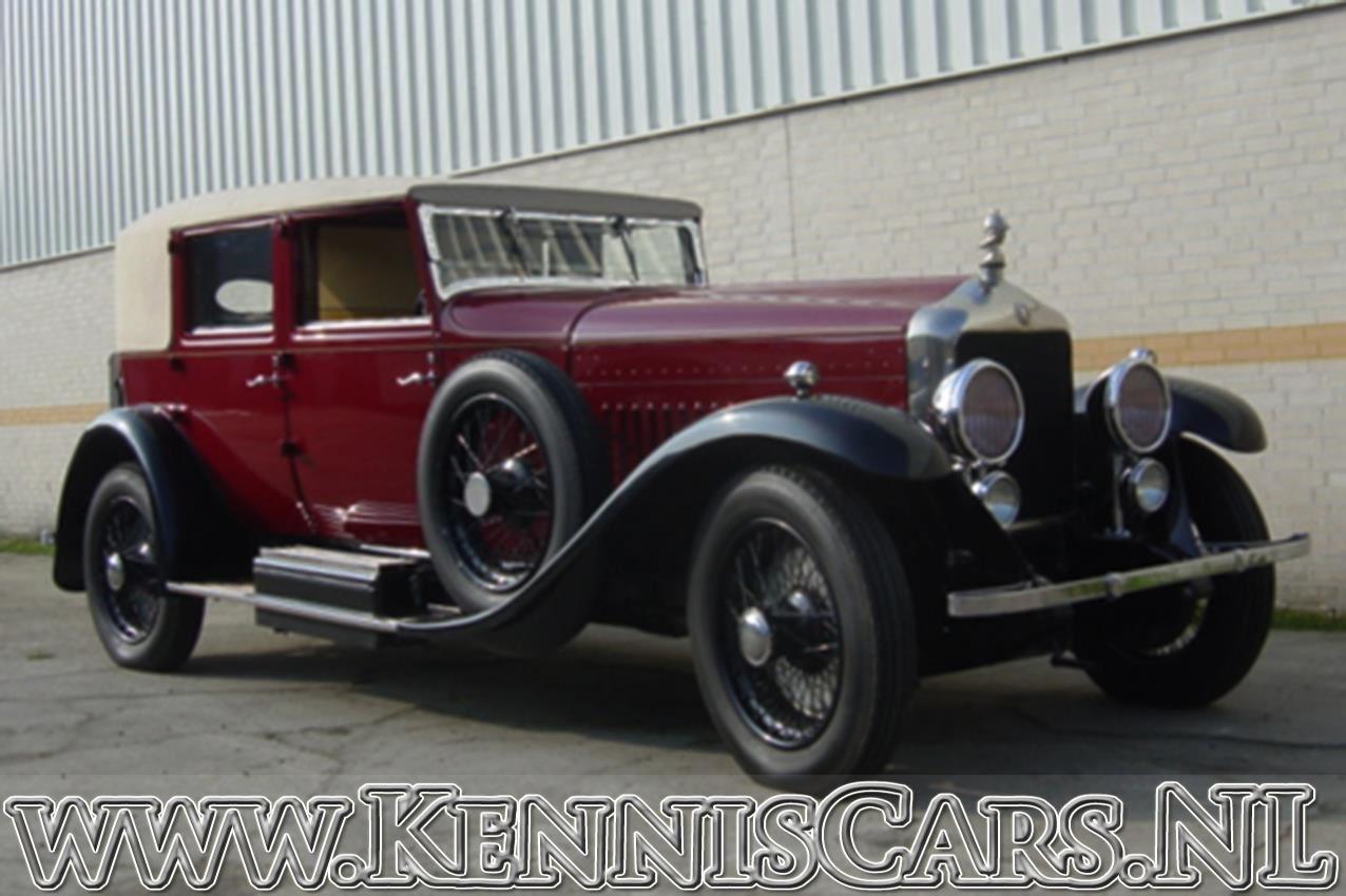 Minerva 1928 Hibbard  Darrin 4 door all wheater pheaton occasion - KennisCars.nl