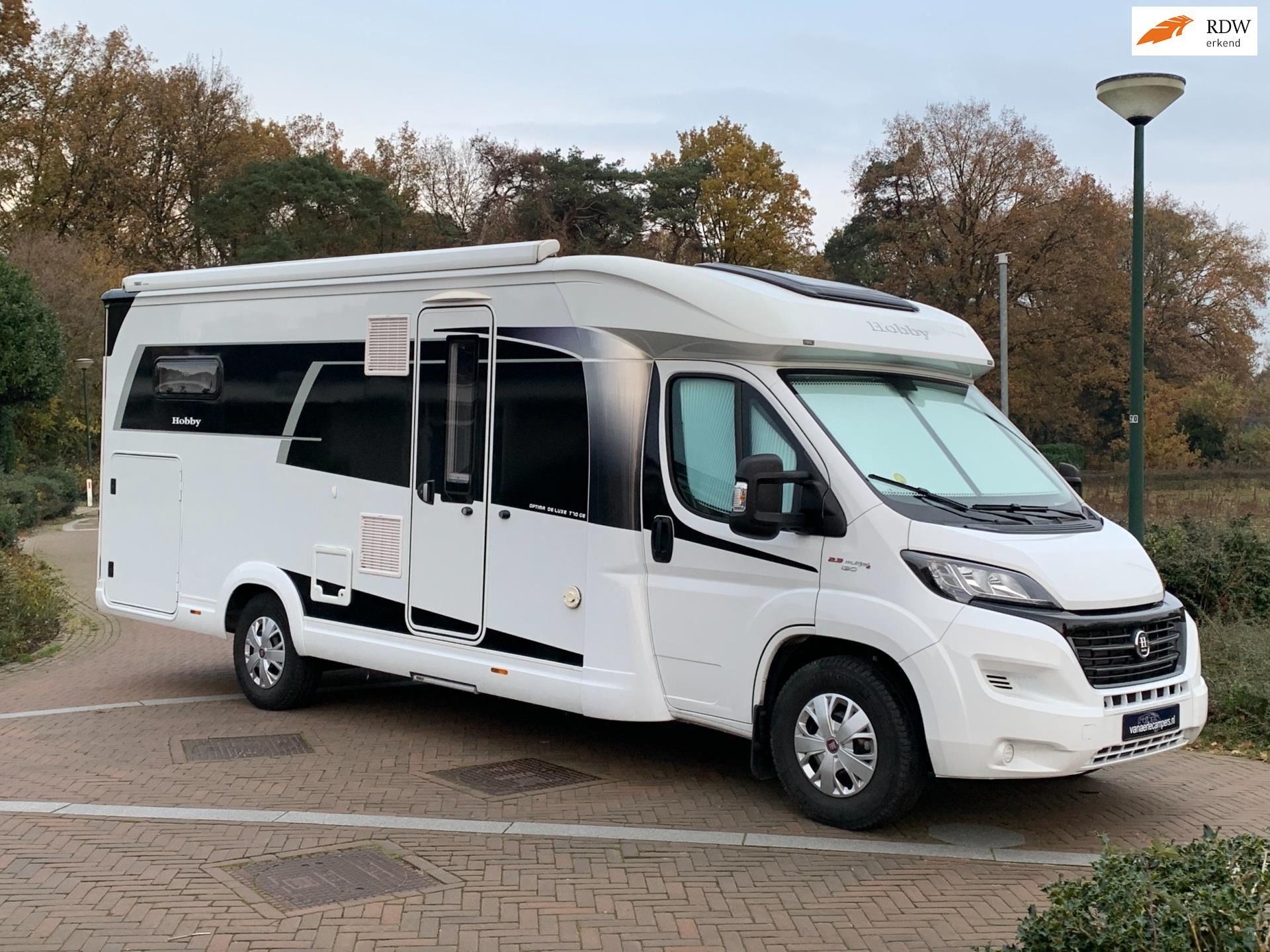 Hobby Optima Deluxe T70 GE-Enkele bedden-XL garage-2019-Nieuwstaat-Zeer Exclusief occasion - Eric van Aerle Auto's