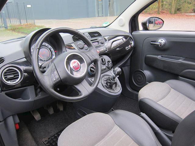 Fiat 500 C 1.2 Lounge LEDER PDC CABRIO ZWART /ROOD DAK!!