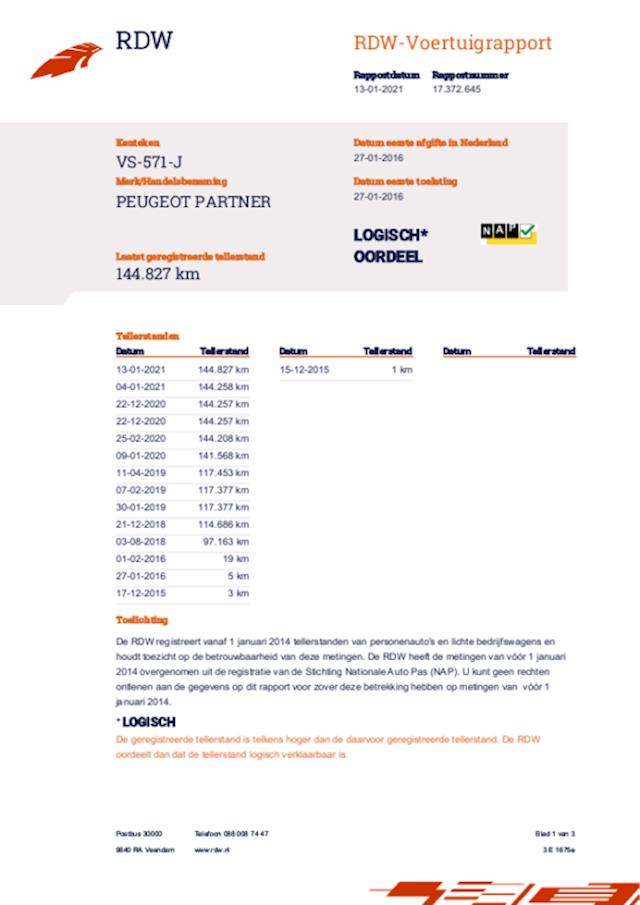 Peugeot Partner 120 1.6 HDi 75 L1 XR ex btw