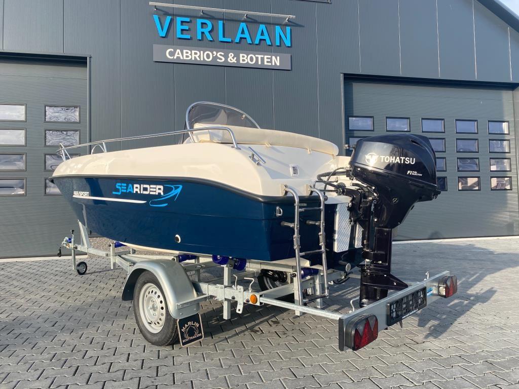 SeaRider  465 Sport/Nieuw/Direct leverbaar/ met 20 pk tohatsu motor occasion - Verlaan Cabrio's en Boten