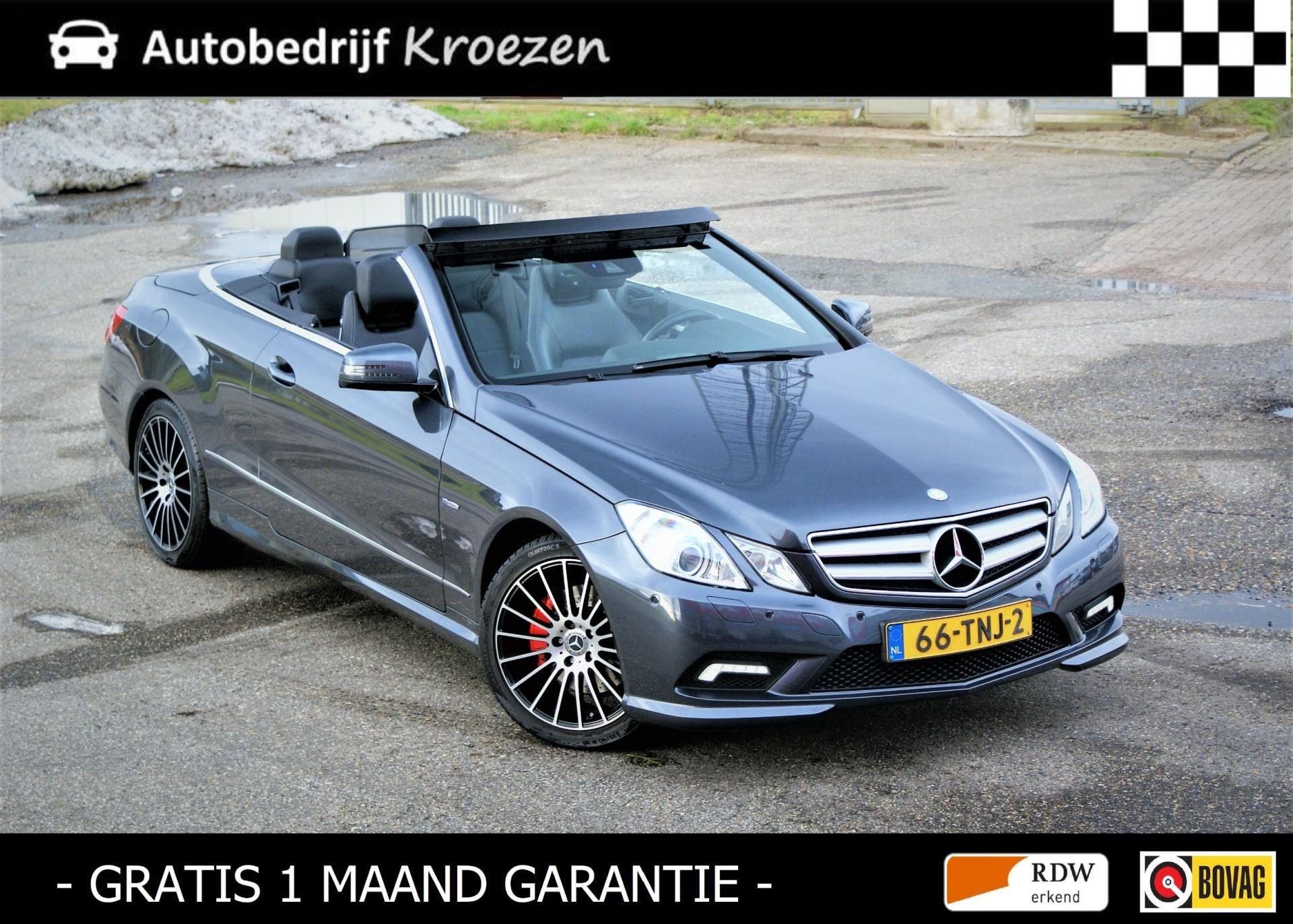 Mercedes-Benz E-klasse Cabrio occasion - Autobedrijf Kroezen