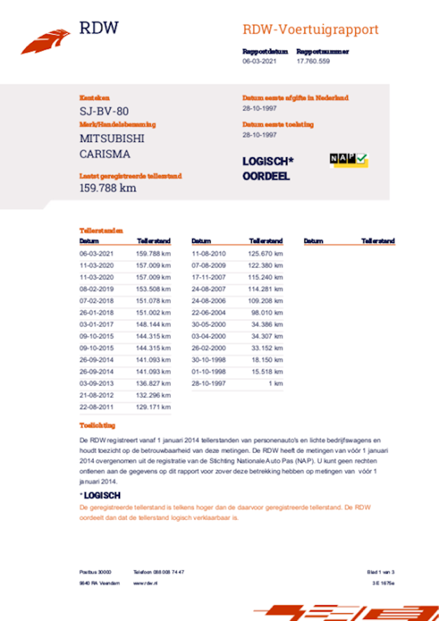 Mitsubishi Carisma 1.6 GL apk 11-03-2022 159 dkm