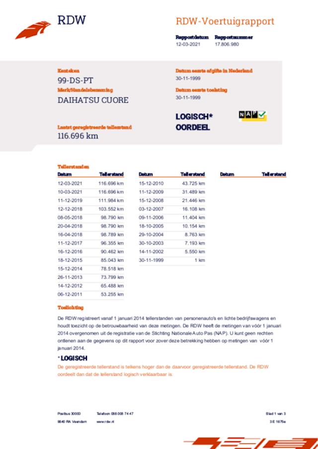 Daihatsu Cuore 1.0-12V XTi st.bekr automaat apk 10-03-2022