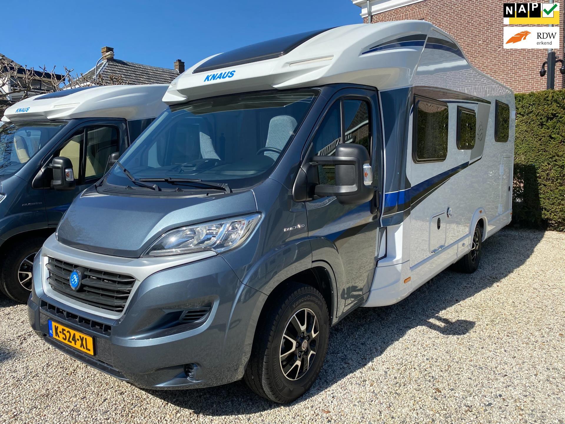 Knaus Sky Wave 700 MEG Lengte-bedden en Hef-bed Garage 2019 occasion - Campers Kerkdriel