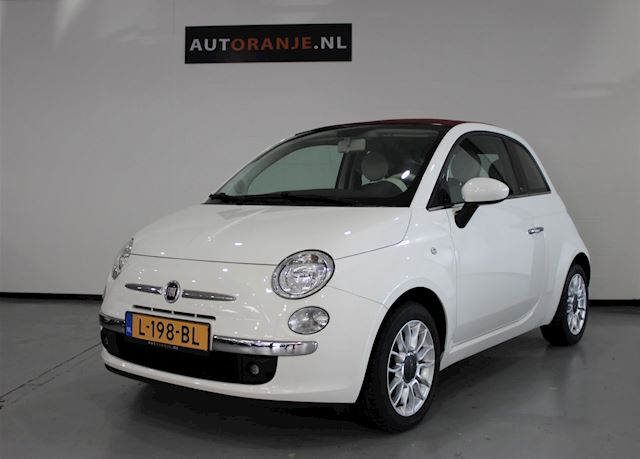 Fiat 500 C 1.2 Lounge, Cabrio, Airco, PDC Achter, Nette Staat!!