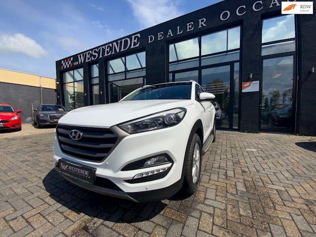Hyundai Tucson 1.6 T-GDi Premium 4WD AUTOMAAT NAVI ACHTERUITRIJCAMERA CLIMATE STOELVERW PARKEERSENSOREN 3/12M GARANTIE