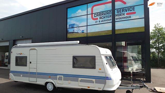 Hobby 560 UNIEK Queen - middenbed  zie opties  occasion - Caravan Service Achterhoek