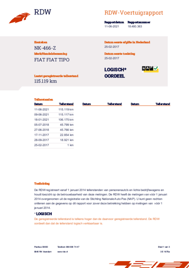 Fiat Tipo 1.4 16V 70KW 2017 Grijs NAP*APK 2023*2E EIG