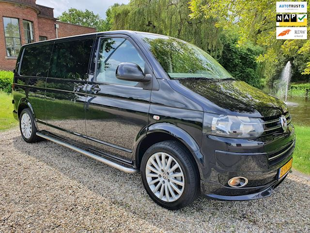 Volkswagen Transporter 2.0 TDI L2H1 DC AUT/leer/NAVI/cruise 2x schuifdeur