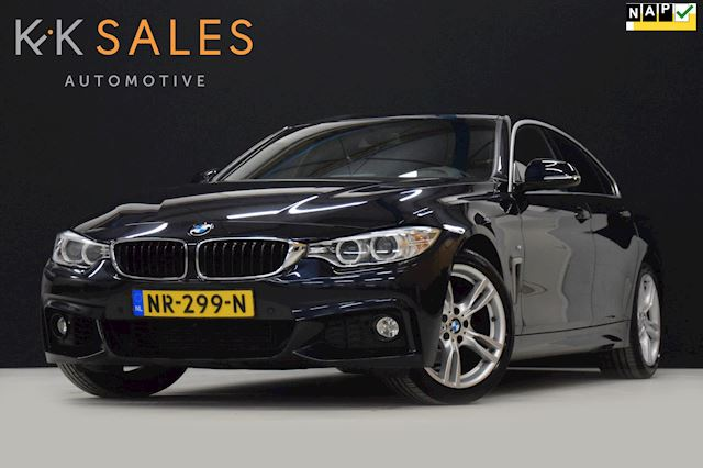 BMW 4-serie Gran Coupé 418i M PAKKET AUT[VOL LEDER, M-PAKKET, SPORTSTUUR, PDC, BLUETOOTH, STOELVERWARMING, START-STOP, NIEUWSTAAT]