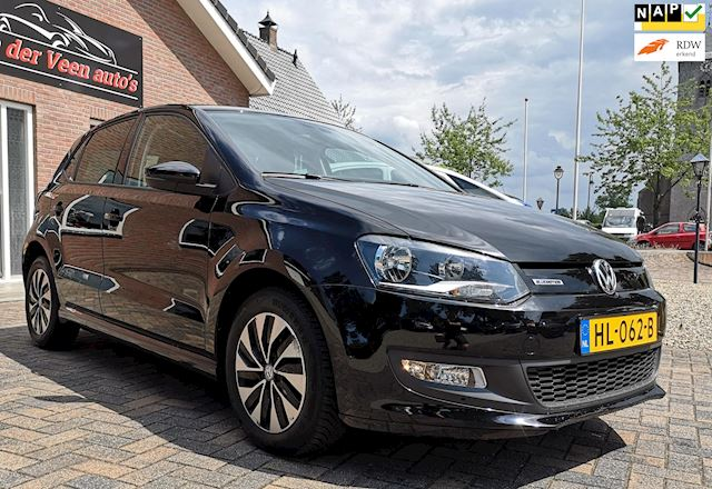 Volkswagen Polo 1.0 Bluemotion Edition, zeer luxe uitvoering! Navi, clima, voice etc en zeer netjes!