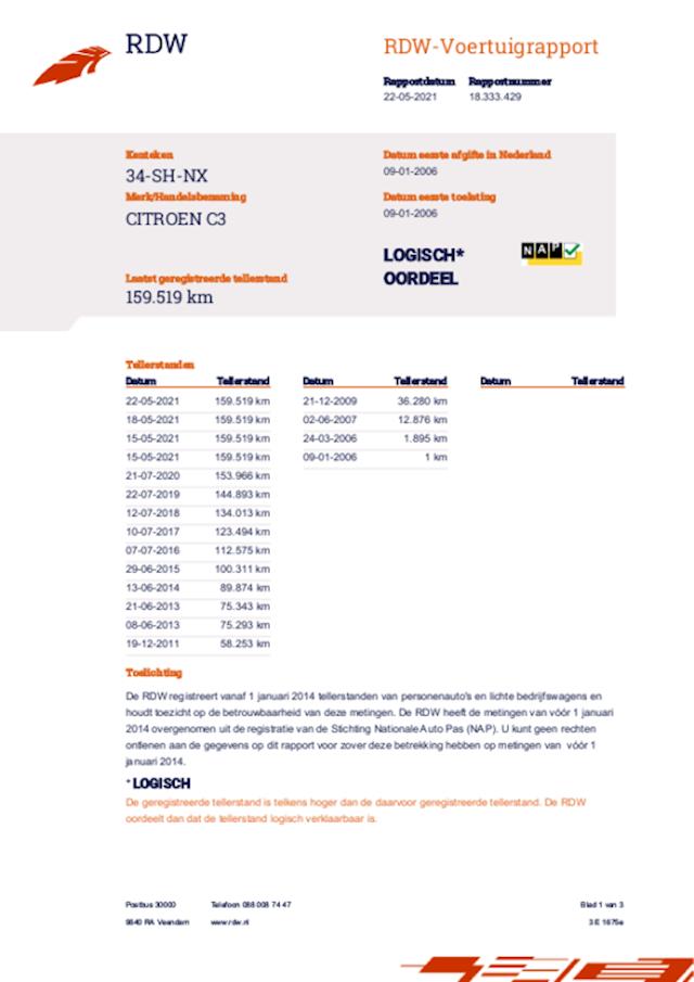 Citroen C3 1.4i Exclusive airco apk 22-7-2022