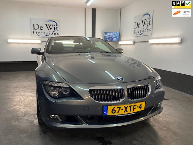 BMW 6-serie Cabrio 630i High Executive AUT. uitv. in ZEER MOOIE STAAT !! NWE APK/GARANTIE.