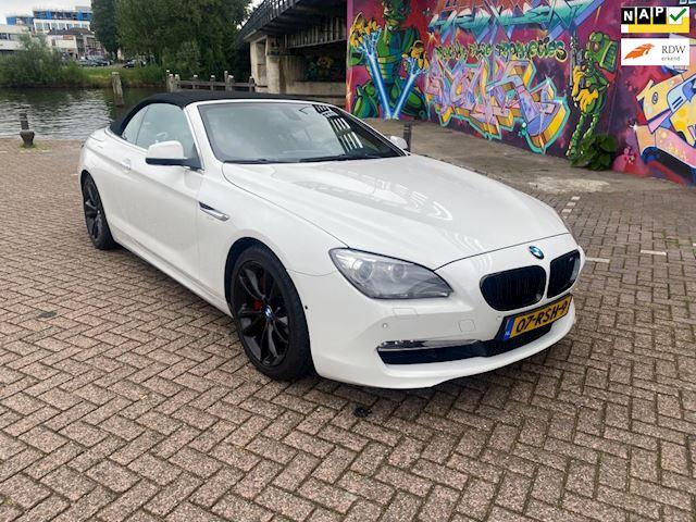 BMW 6-serie Cabrio 640i High Executive geheel in top staat veel onderhoud gehad 19 inch velgen m6 look 360 camera navi Hud  kanon