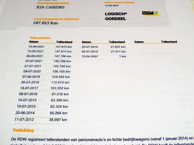 Kia Carens 2.0 CVVT X-ecutive