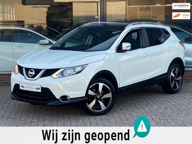 Nissan Qashqai 1.2 Tekna! Pano/Navi/360Camera/LED/Cruise/Afneembaar trekhaak/PDC/Wit metallic/1e eigenaar/Dealer OH/Nieuwstaat