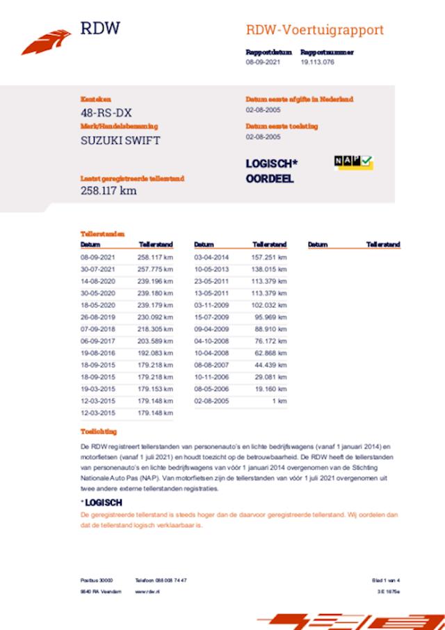 Suzuki Swift 1.3 GLS apk tot 09-2022