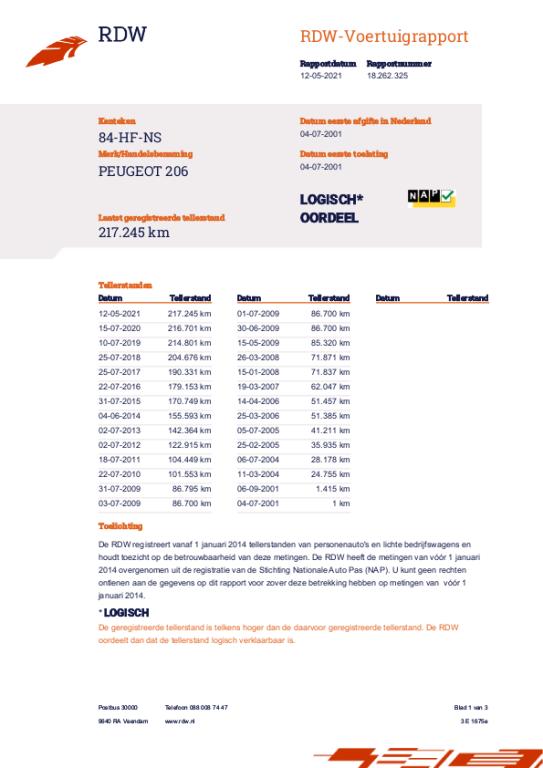 Peugeot 206 occasion - Garagebedrijf Riemersma