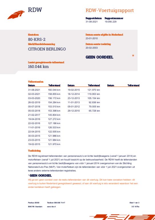 Citroen Berlingo occasion - Garagebedrijf Riemersma